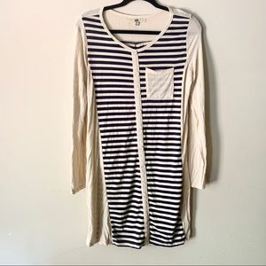 YA Los Angelas Striped Full Length Button Dress